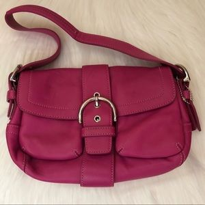 Genuine Leather Pink Coach Purse